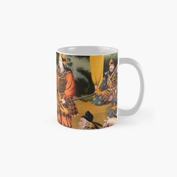 Ukiyo-e print of a group of Samurai Classic Mug