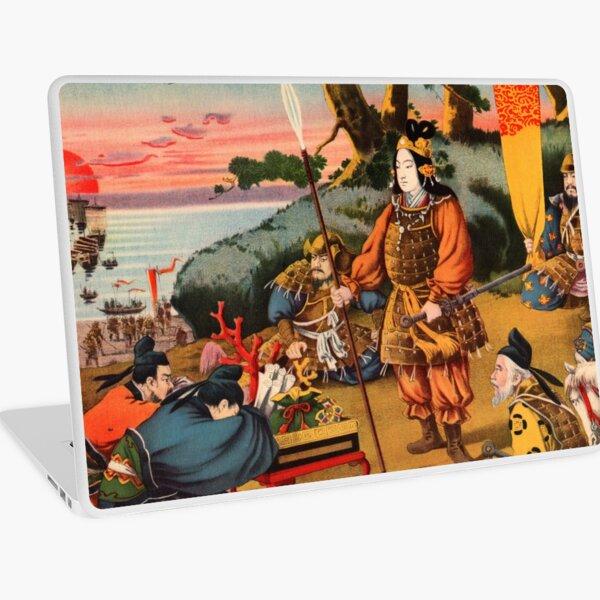 Ukiyo-e print of a group of Samurai Laptop Skin