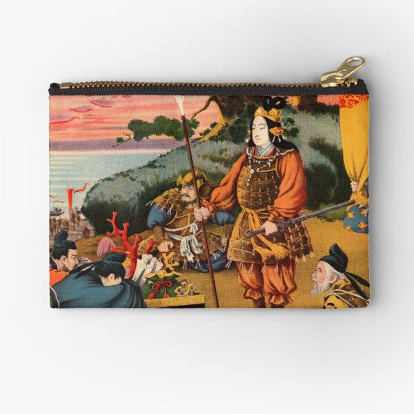 Ukiyo-e print of a group of Samurai Zipper Pouch
