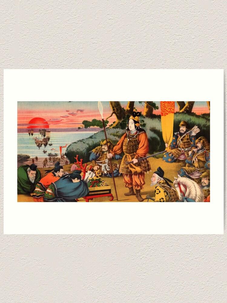 Alternate view of Ukiyo-e print of a group of Samurai Art Print