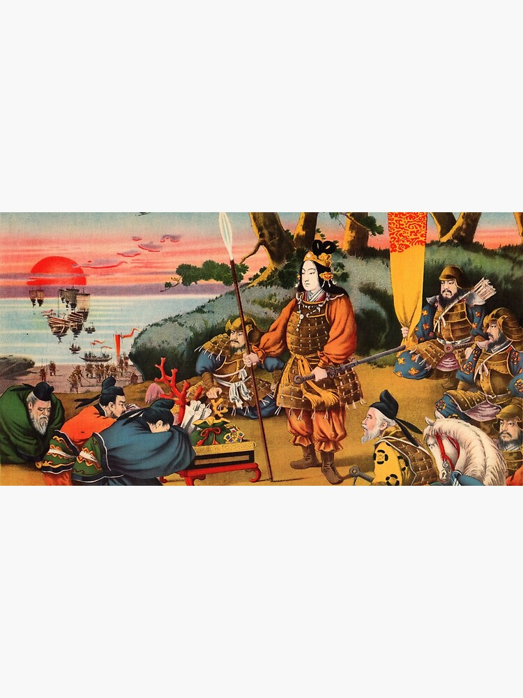Ukiyo-e print of a group of Samurai by Fletchsan
