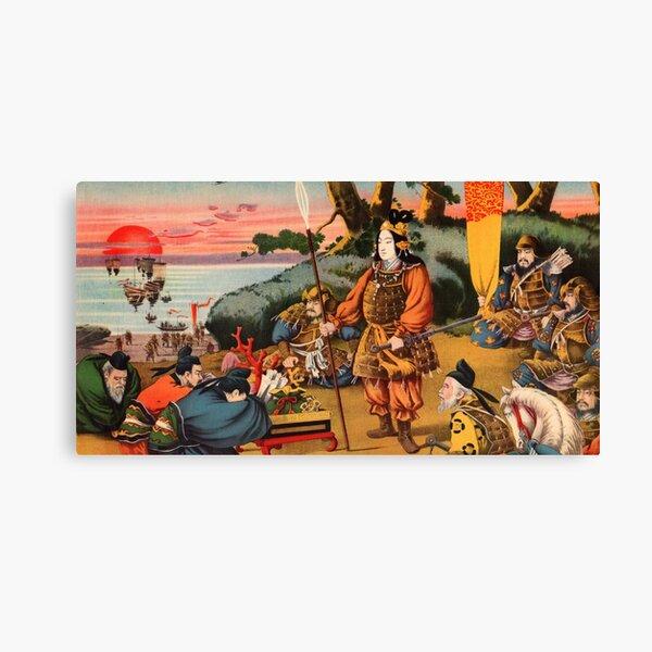 Ukiyo-e print of a group of Samurai Canvas Print