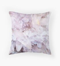 Lavender Amethyst Crystals Throw Pillow