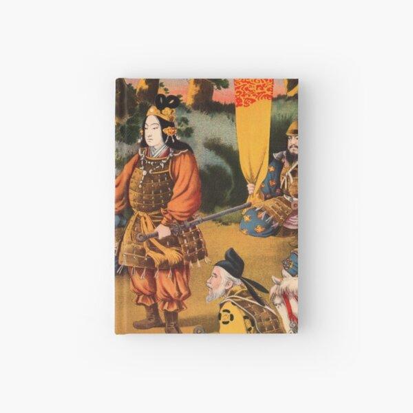 Ukiyo-e print of a group of Samurai Hardcover Journal