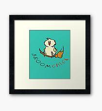 Broomchick Funny Animal Pun Framed Print