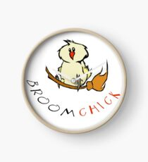 Broomchick Funny Animal Pun Clock