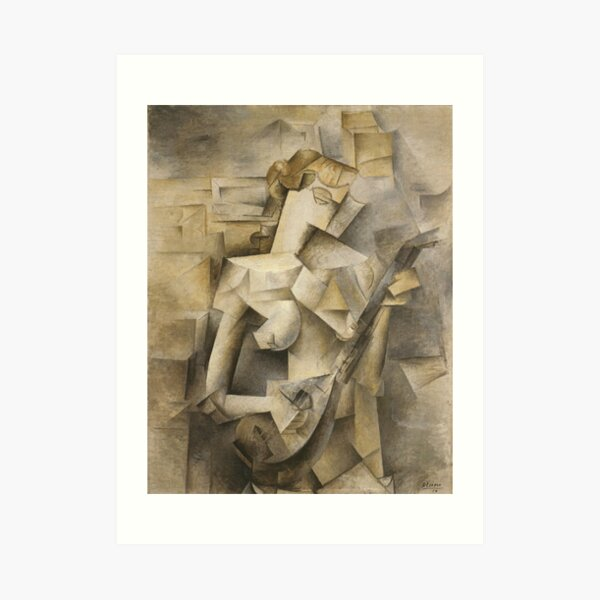 Girl with mandolin-Pablo Picasso Art Print