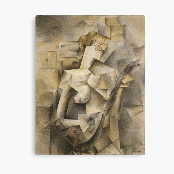 Girl with mandolin-Pablo Picasso Canvas Print