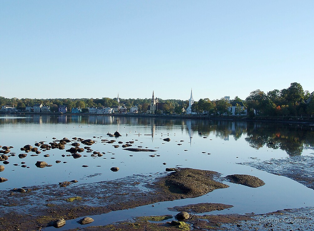 Mahone Bay Churches by George Cousins