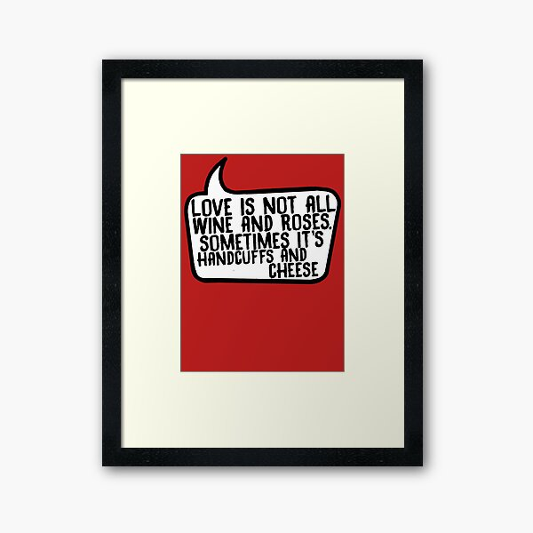 Handcuffs and Cheese Framed Art Print