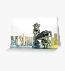 COLOURFUL PERSPECTIVE RENDER Greeting Card