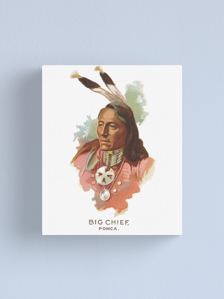 Alternate view of Native American Indian Chief Standing Bear Big Chief Ponca Canvas Print