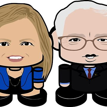 Bernie'bots: Greater Together Politico'bot Toy Robots by carbonfibreme