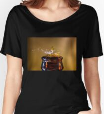 Top it Off beer dripping into a bottle  Women's Relaxed Fit T-Shirt