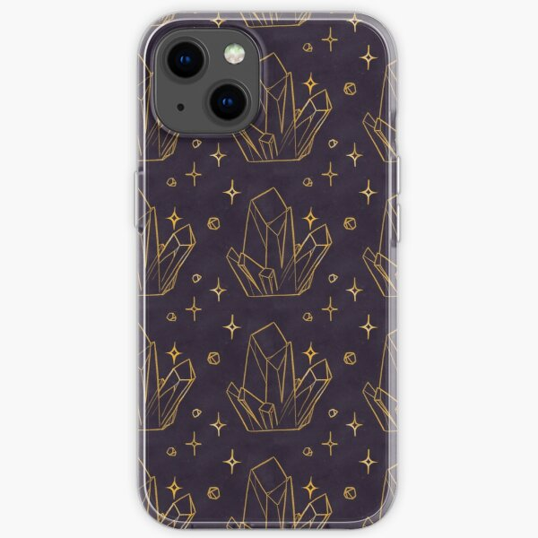 Golden Crystal Pattern iPhone Soft Case