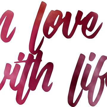 watercolor calligraphy in love with life by hellcom