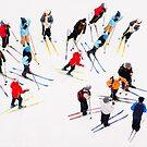 Young Skiers by Ari Salmela