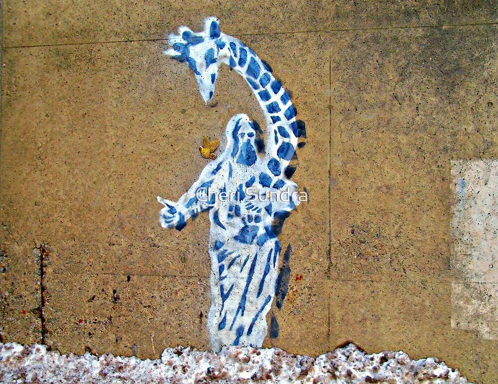 Jesus Giraffiti   by Cheri Sundra