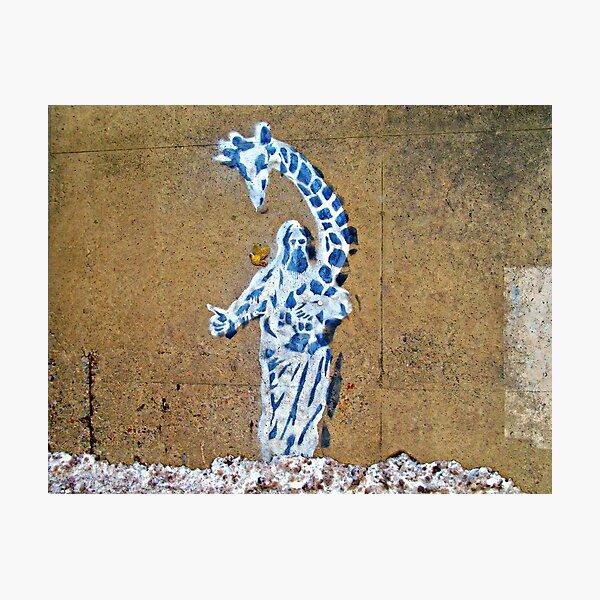 Jesus Giraffiti   Photographic Print