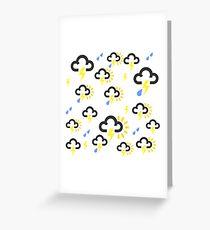 Lightning weather forecast design Greeting Card