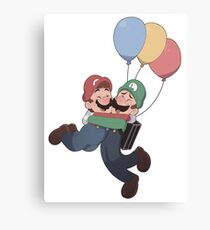 Mario and Luigi Canvas Print