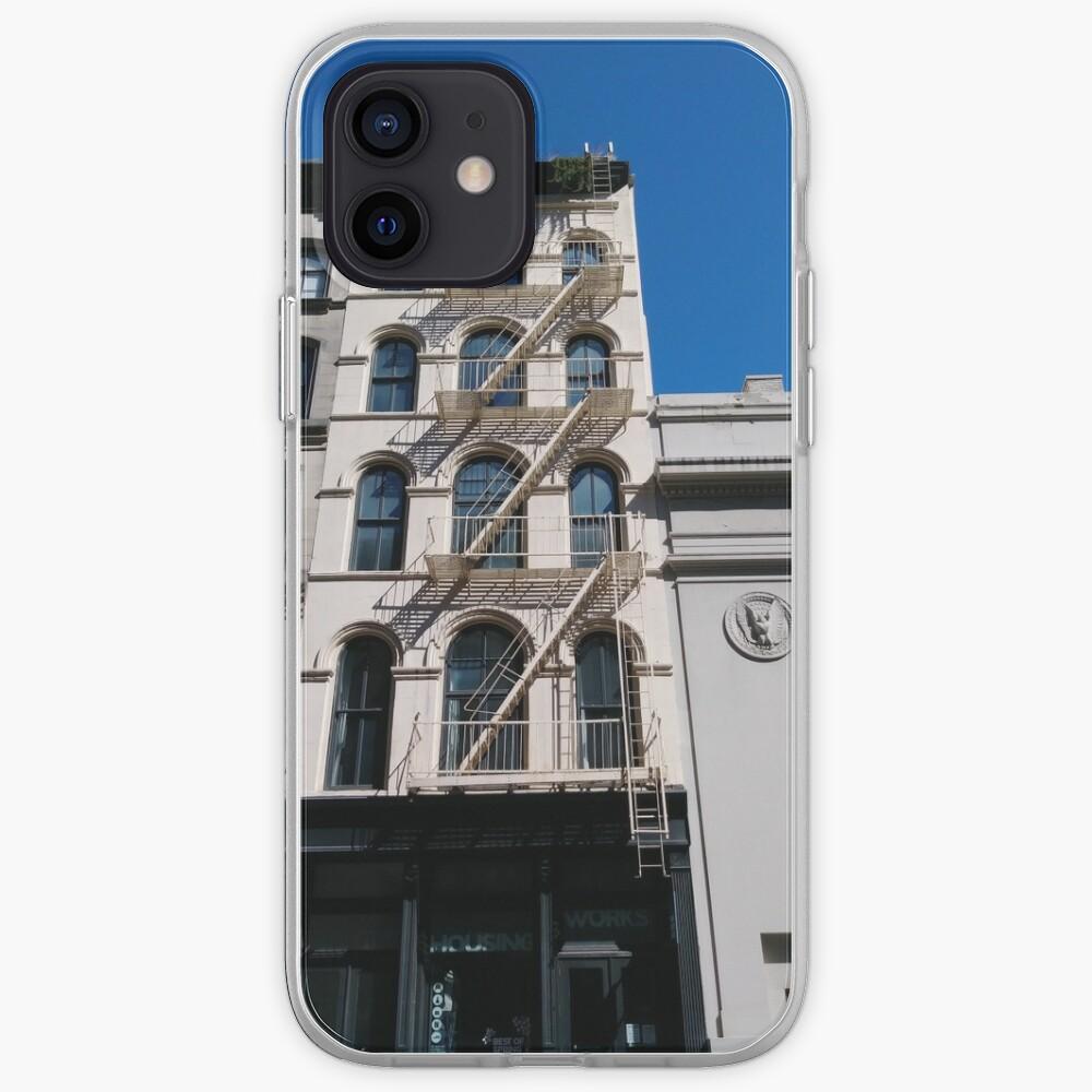 New York, Manhattan, Brooklyn, New York City, architecture, street, building, tree, car, pedestrians, day, night, nightlight, house, condominium,  iPhone Case