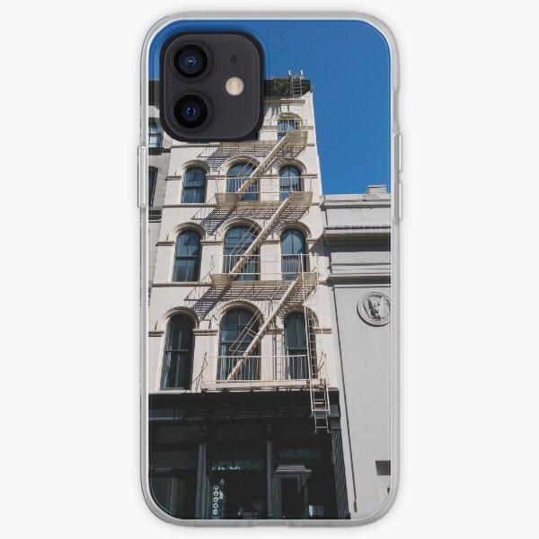 New York, Manhattan, Brooklyn, New York City, architecture, street, building, tree, car, pedestrians, day, night, nightlight, house, condominium,  iPhone Soft Case