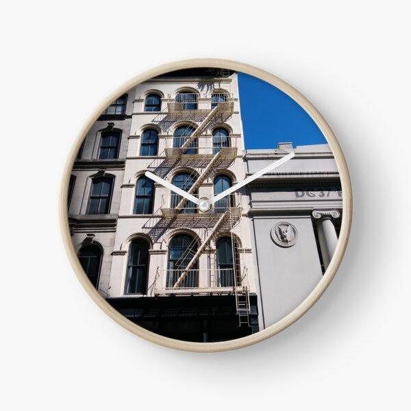 New York, Manhattan, Brooklyn, New York City, architecture, street, building, tree, car, pedestrians, day, night, nightlight, house, condominium,  Clock