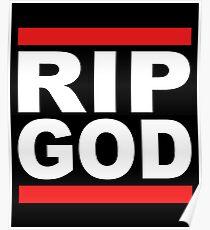 RIP GOTT - Atheist Shirts & Geschenke Poster
