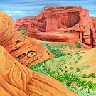 Arizona Canyon - Canyon de Chelly (acrylic on canvas) by Lynne Henderson
