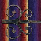Curling lock on rainbow rustic wood by chihuahuashower