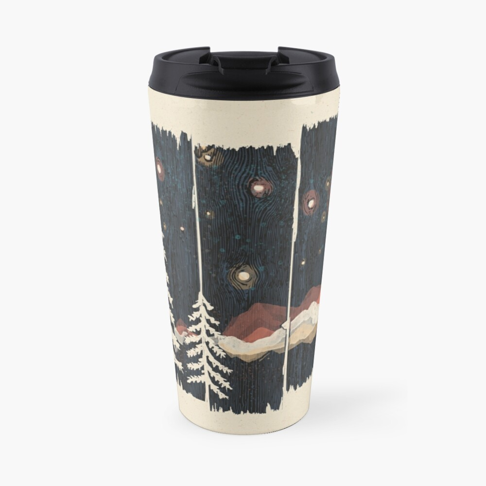 Starry Night in the Mountains... Travel Mug