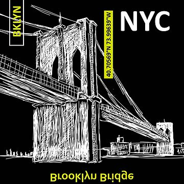 New York Brooklyn bridge illustration by IrinaShi