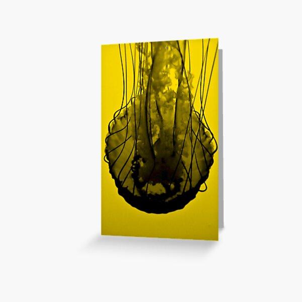 Jellyfish on Yellow Greeting Card
