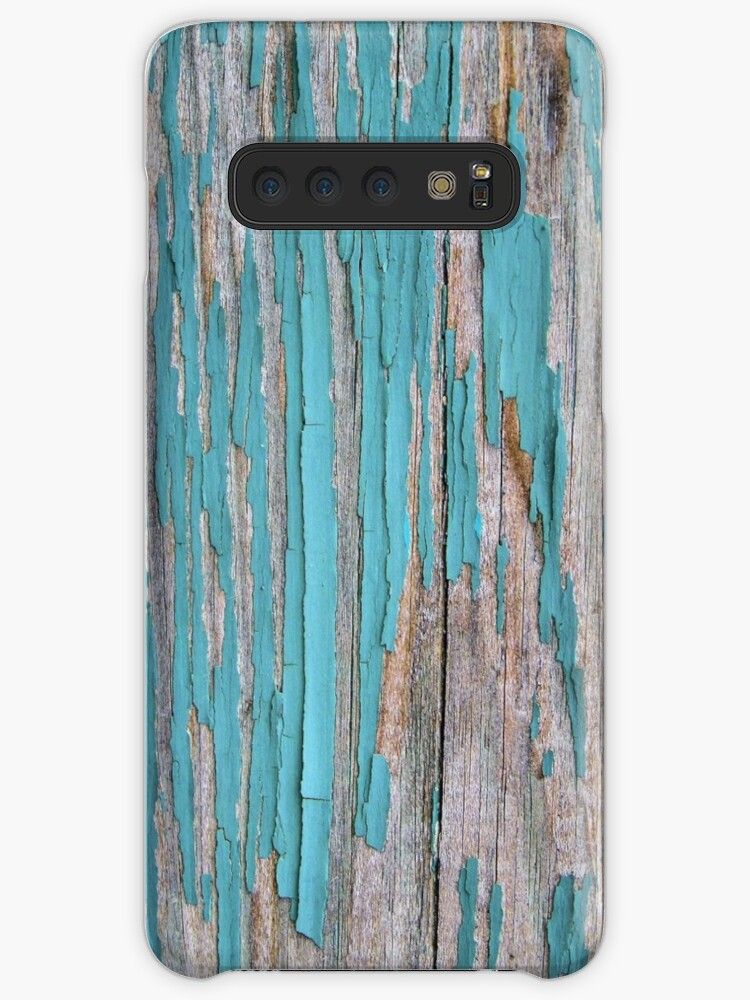 'Shabby rustic weathered wood turquoise' Case/Skin for Samsung Galaxy by  chihuahuashower
