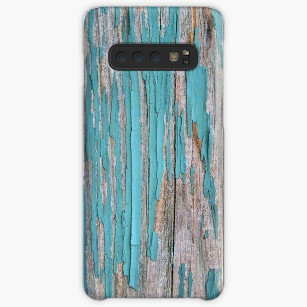 Shabby rustic weathered wood turquoise Samsung Galaxy Snap Case
