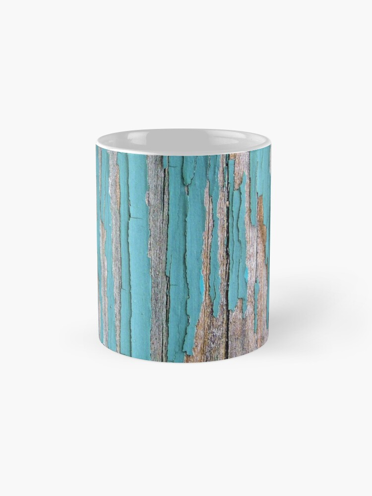 Alternate view of Shabby rustic weathered wood turquoise Mug