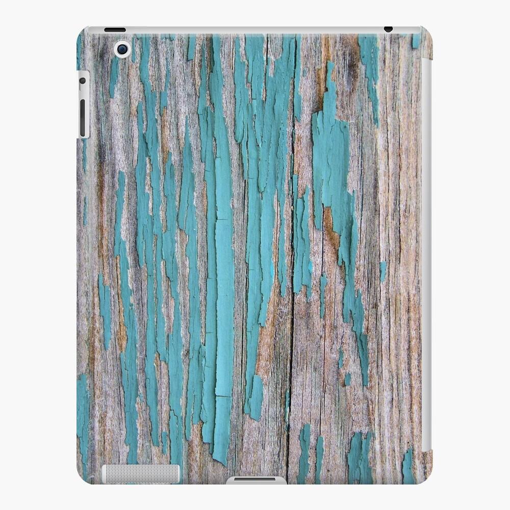 Shabby rustic weathered wood turquoise iPad Case & Skin