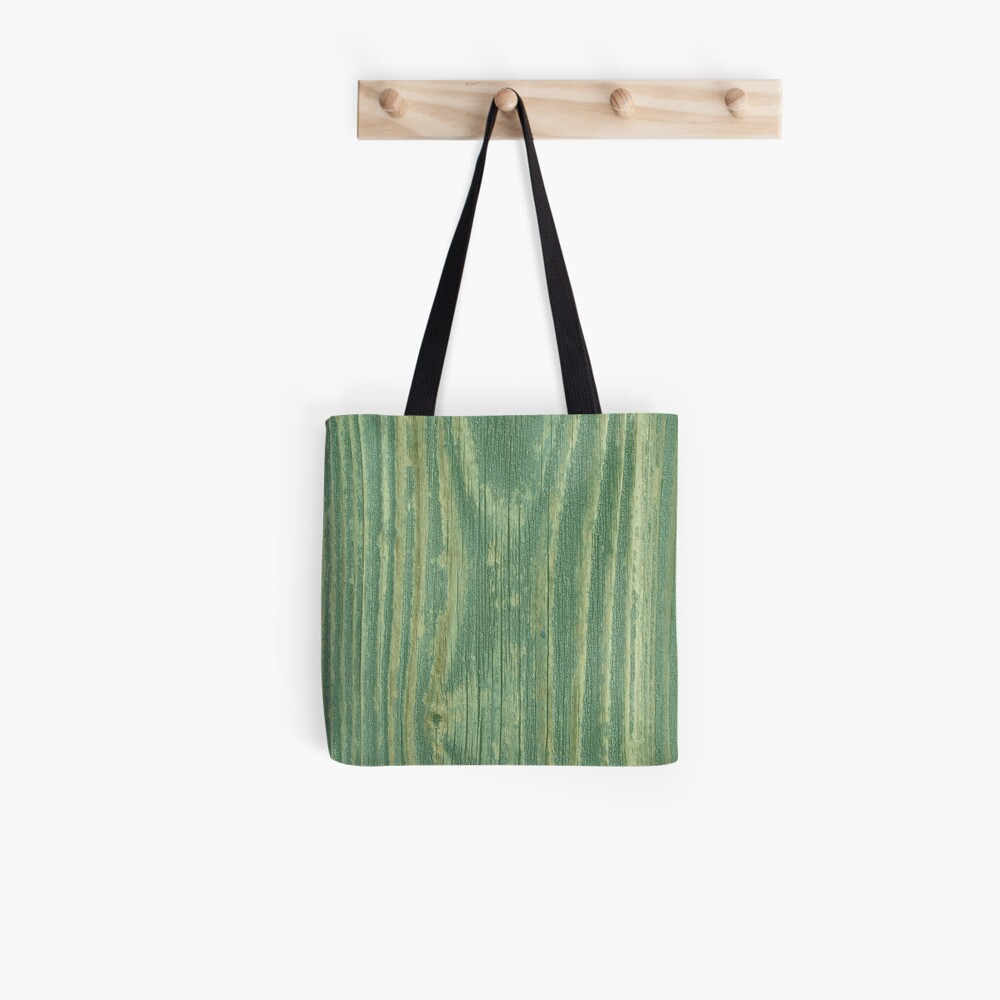 Rustic green weathered wood texture Tote Bag