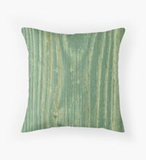Rustic green weathered wood texture Throw Pillow