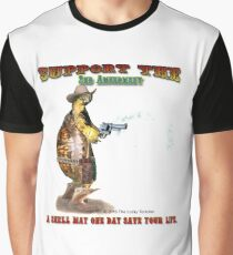 Support the 2nd Amendment Cowboy Turtle Graphic T-Shirt