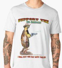 Support the 2nd Amendment Cowboy Turtle Men's Premium T-Shirt