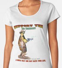 Support the 2nd Amendment Cowboy Turtle Women's Premium T-Shirt