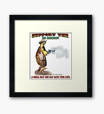 Support the 2nd Amendment Cowboy Turtle Framed Print