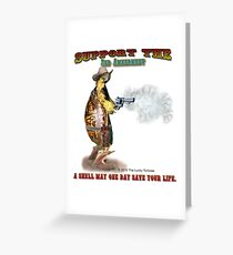 Support the 2nd Amendment Cowboy Turtle Greeting Card