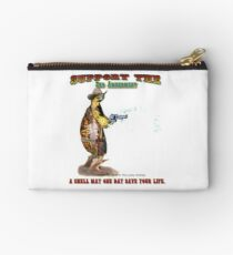 Support the 2nd Amendment Cowboy Turtle Studio Pouch