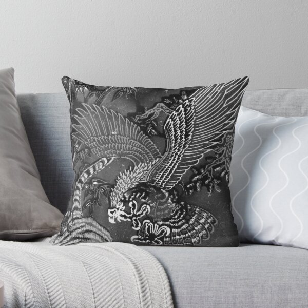 Two Wings of a Great Eagle Throw Pillow