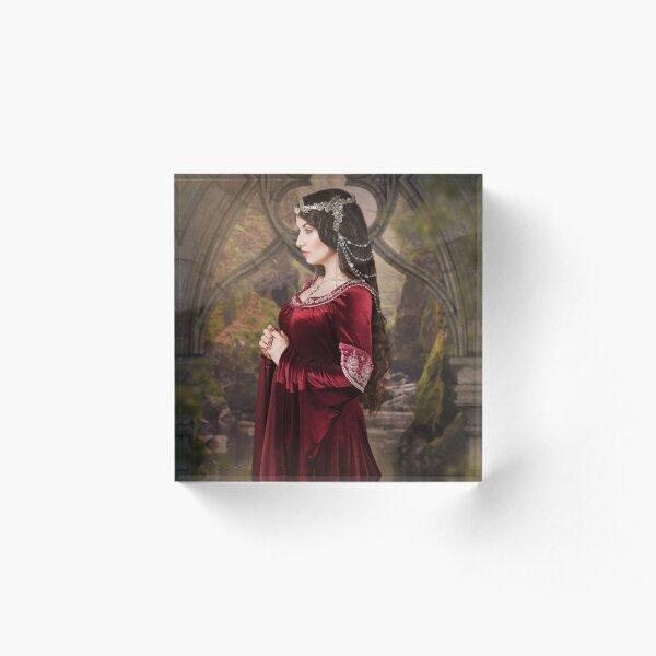 Medieval Princess Acrylblock