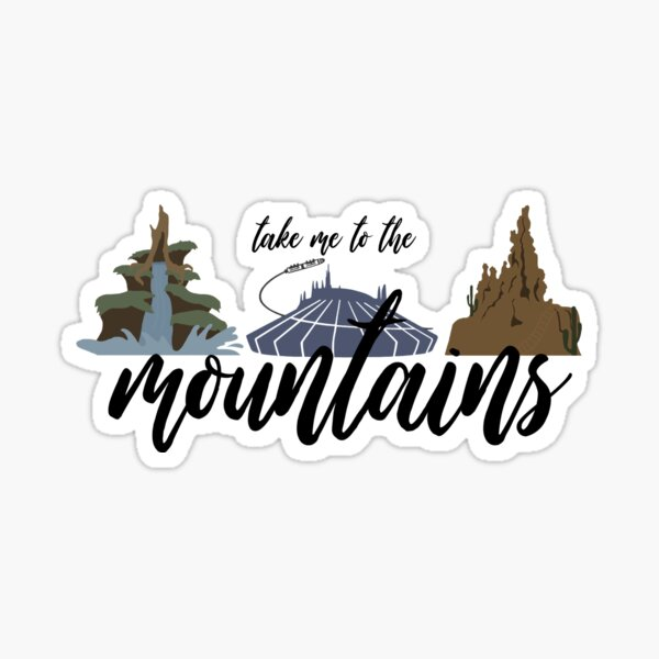 To the Mountains Sticker