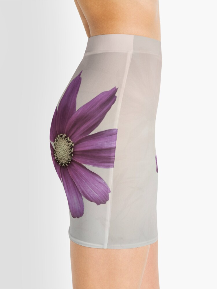 Alternate view of Purple Cosmos Flower Mini Skirt